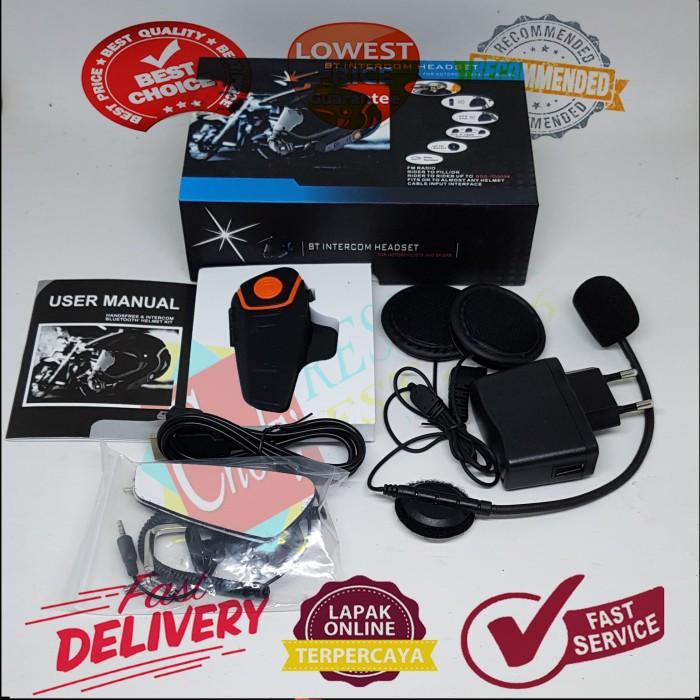 harga Motorcycle helmet bluetooth interphone headset 1000 meter - bt-s2 Tokopedia.com