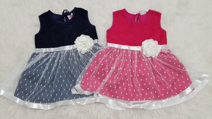 harga Baju bayi anak perempuan dress pesta kondangan brokat tutu alpokadot Tokopedia.com