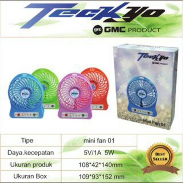 ... harga Kipas angin usb portable + powerbank mini fan usb teckyo 01 gmc Tokopedia.com