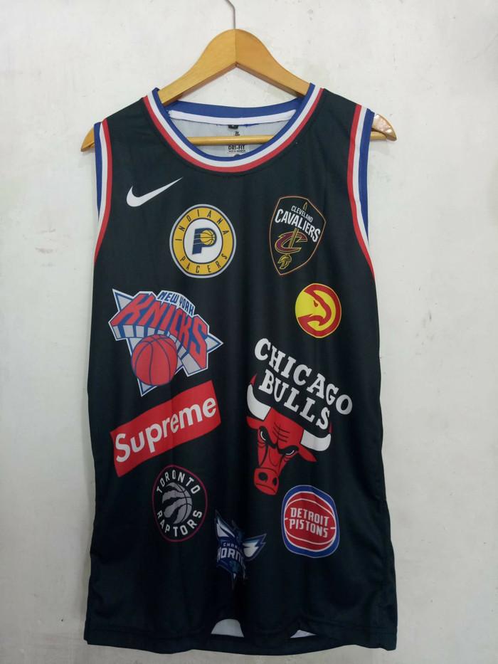 new style 50fff 64418 Jual Jersey Supreme X NBA Hitam - Kota Batam - Dbasketballs House    Tokopedia
