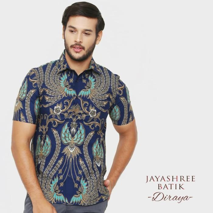 harga Jayashree batik slimfit diraya shortsleeve pria - discount special - navy xxl Tokopedia.com