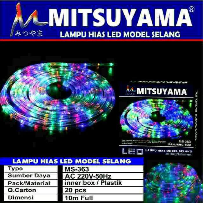 harga Lampu hias led model selang 10 meter warna warni mitsuyama ms-363 Tokopedia.com