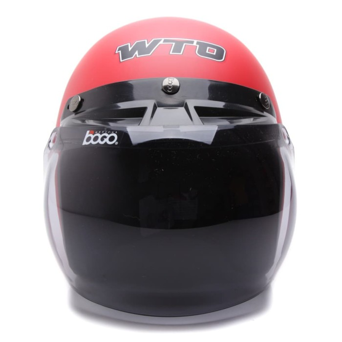 [Helm Dewasa] WTO Helmet Retro Bogo - Lady - Merah Doff