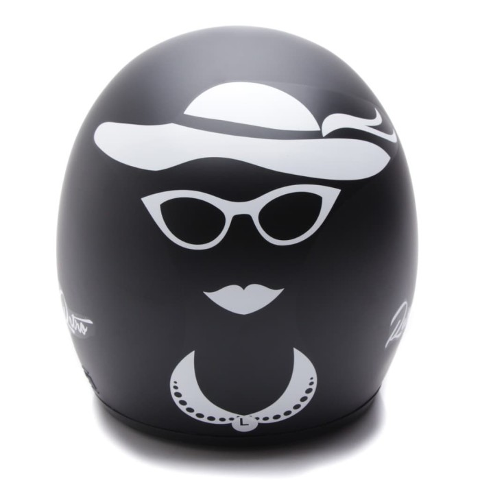 [COUPLE HELM DEWASA] WTO Helmet Retro Bogo - Gentleman - Hitam Doff + 4
