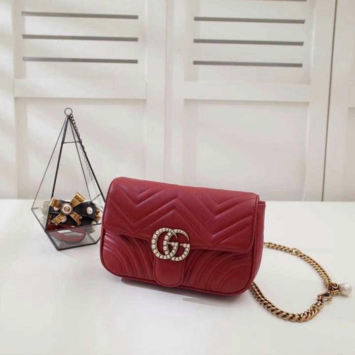 5a19e53f165d Jual Gucci GG marmont waist bag original leather 23cm - BarangMewah ...