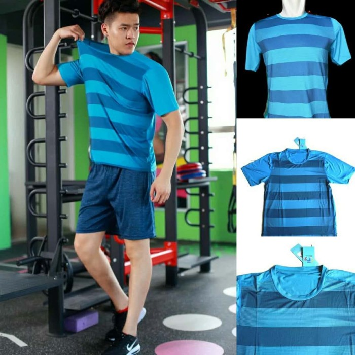 ... harga Biru p023# kaos lari baju olahraga nike nylon super gym fitnes import Tokopedia.