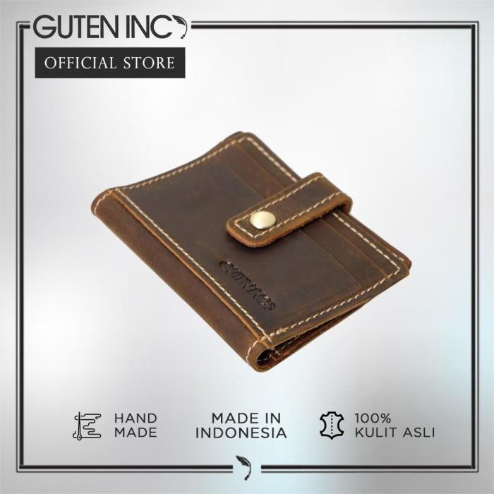 guten inc - diavel card holder light yellow  / tempat kartu kulit