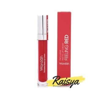 Wardah Exclusive Matte Lip Cream No. 06 Feeling Red - Original