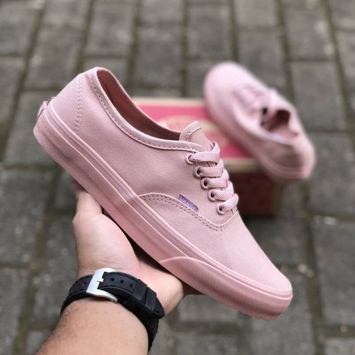 Jual Sepatu Vans Authentic Mono Sepia Rose Pink waffle DT BNIB ... f9774a734