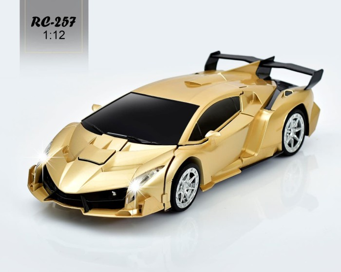 Jual Mobil Remote Transformer Rc Car Lamborghini Robot 2 4ghz