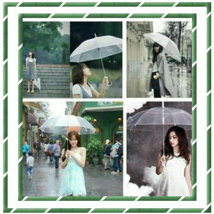 ... Payung Transparan Bening umbrella transparant Korea Japan Best Quality