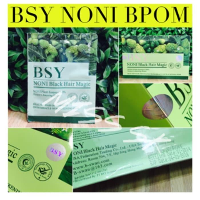 BSY Noni Black Hair Magic Shampoo / ECER / 1 Sachet / BSY Shampo
