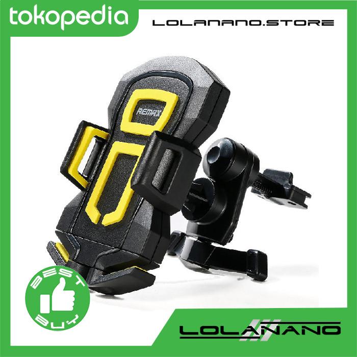 harga Remax air vent smartphone holder - rm-c14 - black/yellow Tokopedia.com