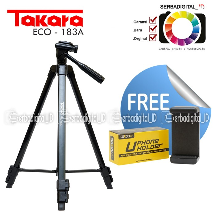 harga Takara eco-183a lightweight tripod with bag free holder for smartphone Tokopedia.com