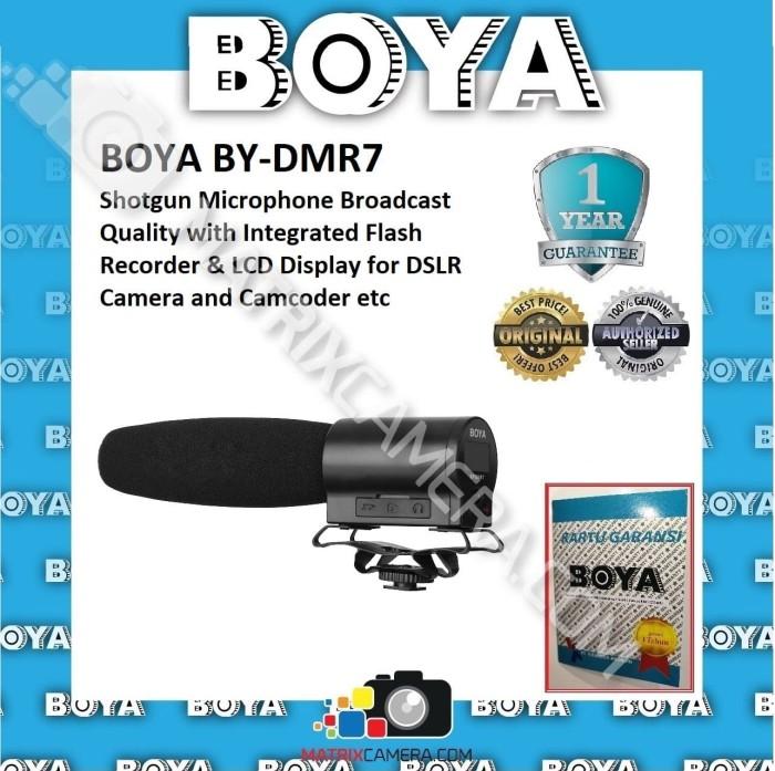 Foto Produk BOYA BY-DMR7 Microphone with Integrated micro SDHC Recorder for Camera dari MatrixCamera