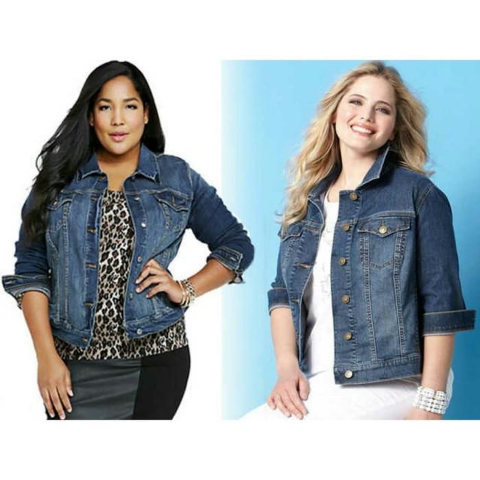 Jual STOK TERBARU Jaket jeans wanita jumbo levis big size Diskon ... d60dc5ad39