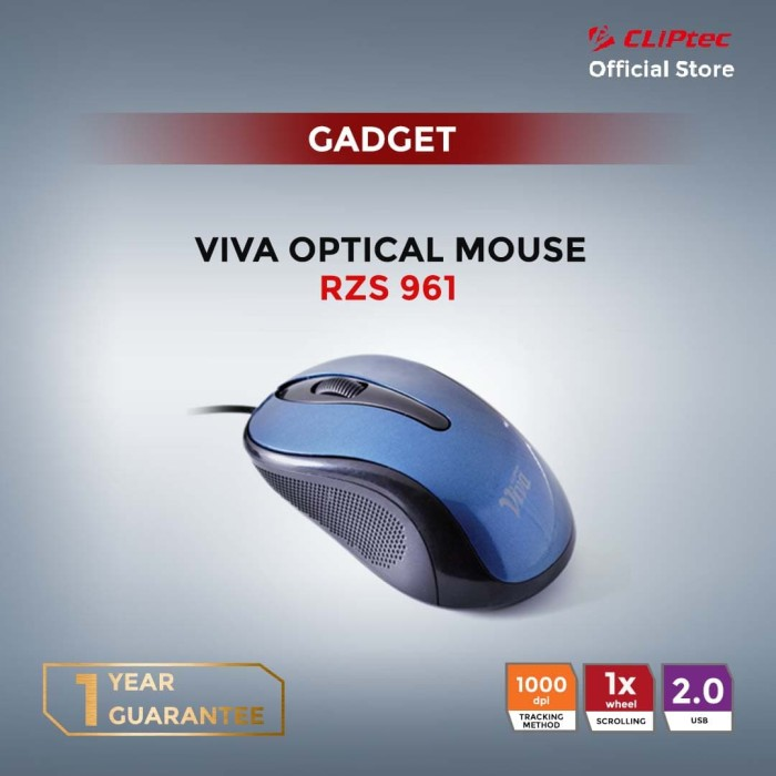 harga Cliptec rzs961 - viva optic mouse | promo optik ringan murah - blue Tokopedia.com