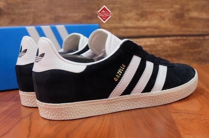 701d0142d624 Jual Sepatu Adidas Original - Adidas Gazelle II Black White Original ...