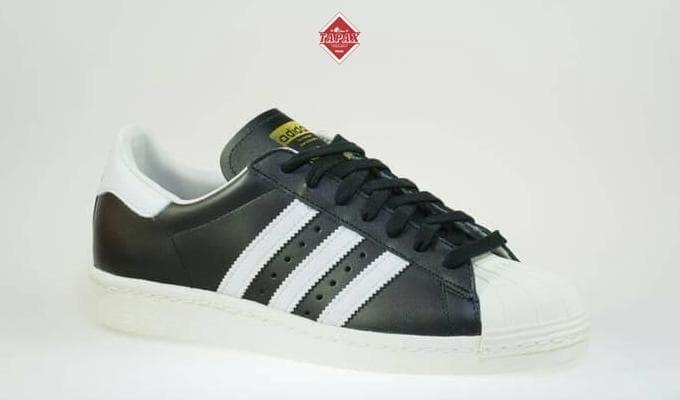 Jual Sepatu Adidas Superstar 80s dlx Original Black White Original ... 649afaa886