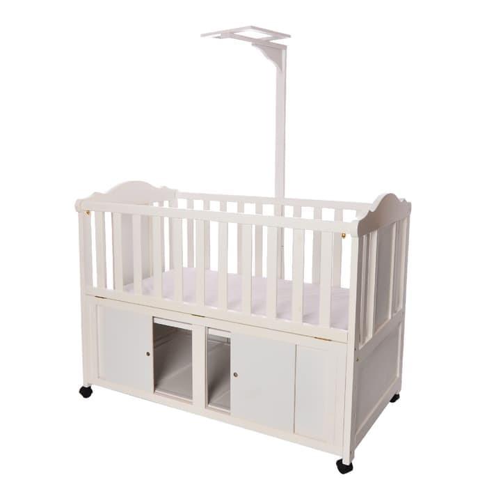 harga Tempat tidur ranjang bayi baby box bed boks bayi matras miao kayu jati Tokopedia.com