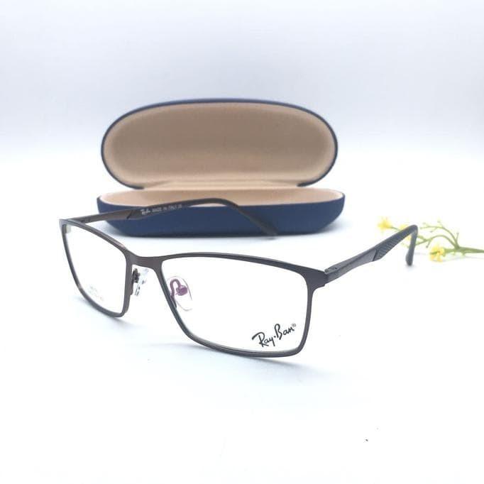 Jual Frame Kacamata Minus Baca Rayban Besi Kotak Pria Wanita - abey ... 04a45b6ba9