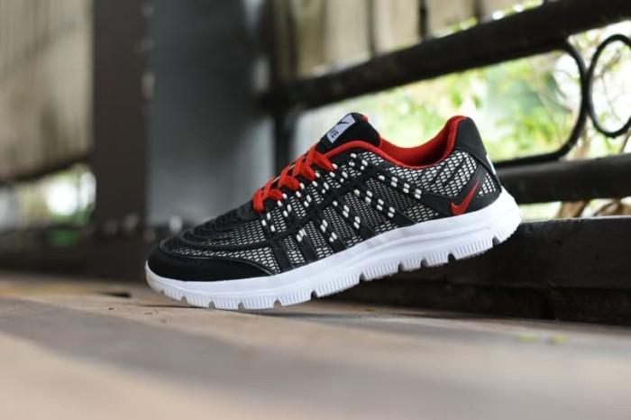 Sepatu Running Pria Sport Nike Airmax 3D Skin Hitam Merah Nyaman Hit bafa9cbf44
