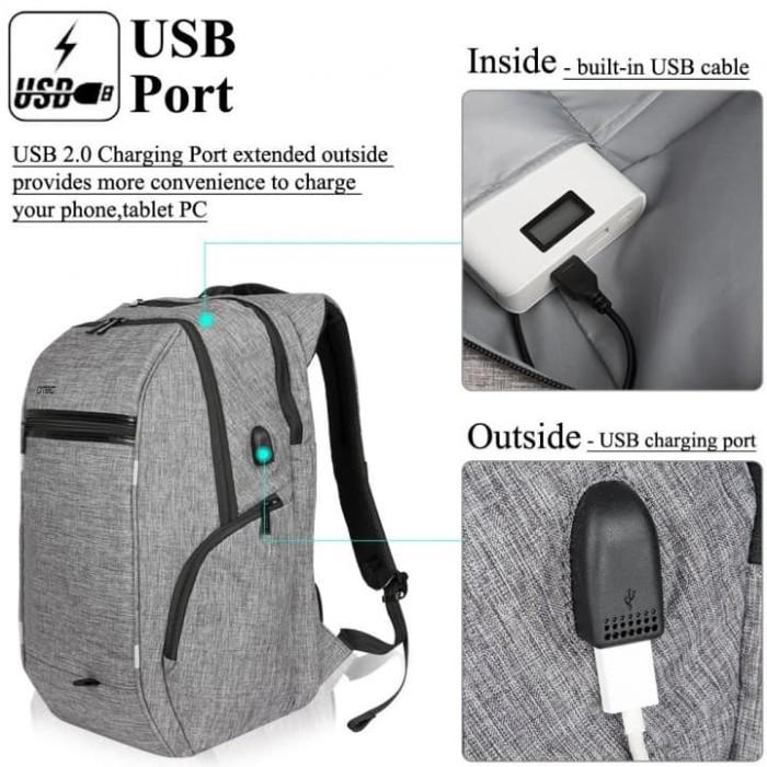 harga Business travel backpack laptop bag usb port d8195w 17.3inch - olb1598 Tokopedia.com