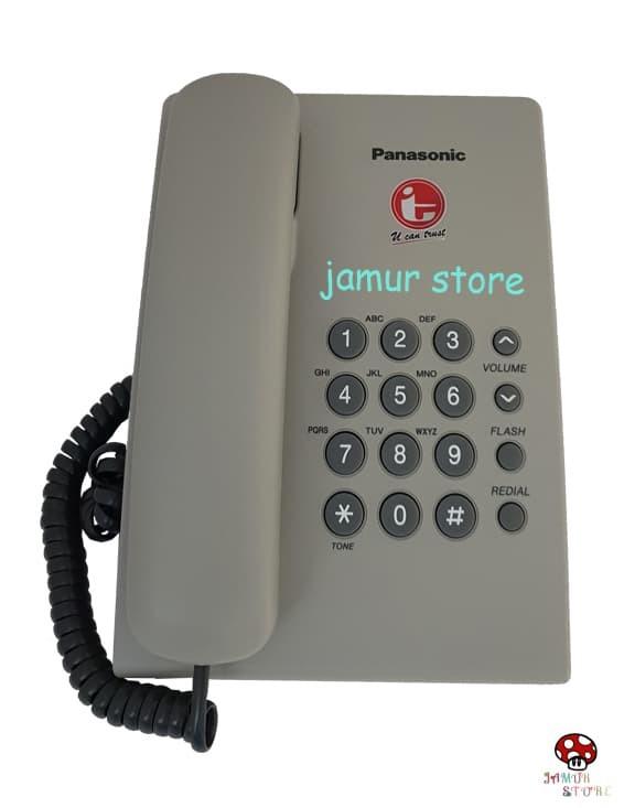 harga Telepon rumah/telepon kabel/telepon kantor panasonic kx-ts505 gray it Tokopedia.com
