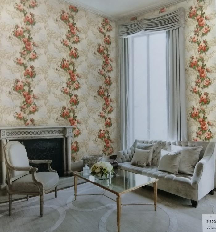 Jual Wallpaper dinding motif bunga 2129 1 Marvell Homedecor