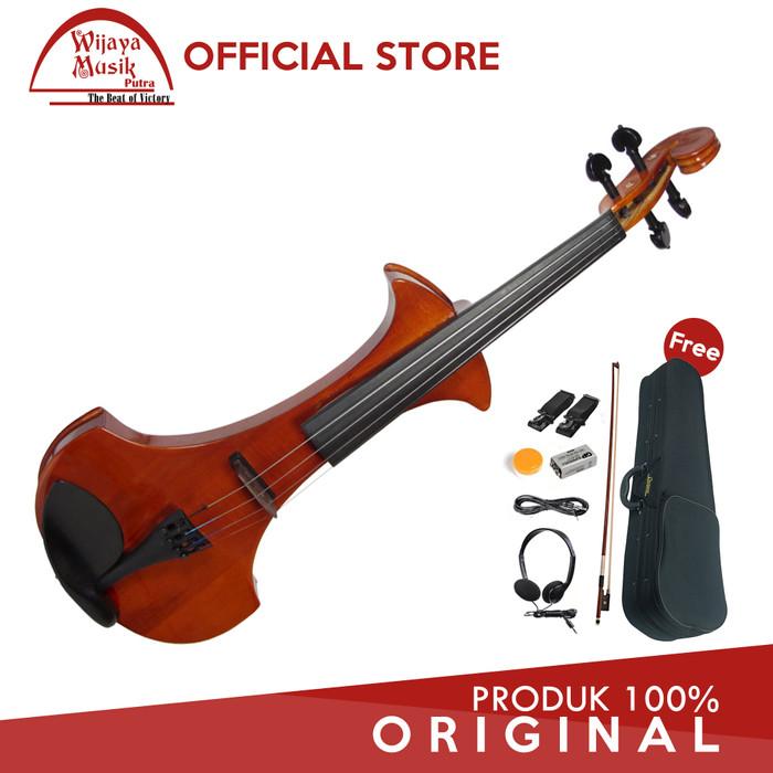 harga Cremona biola elektrik / electric violin (4/4) sv-180 e - coklat Tokopedia.com