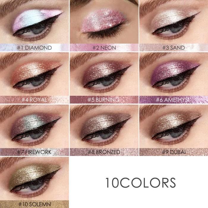 harga Focallure glitter & liquid eyeshadow | eyes shadow pigments shimmer Tokopedia.com