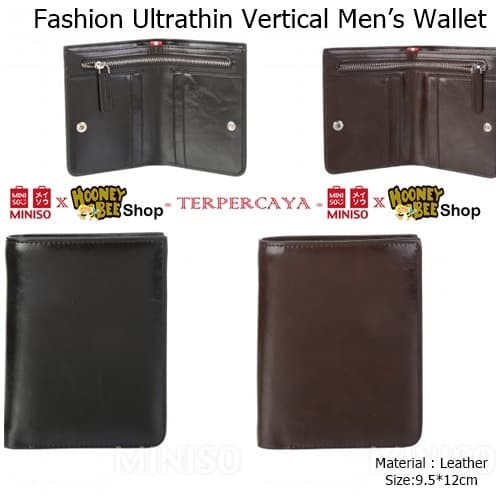 Jual Japan Quality - Dompet Pria Miniso Import Men Vertical Leather ... 35f85fceec