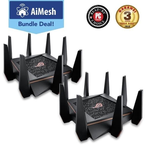 Jual ASUS AiMesh ROG Rapture Gaming Router 2 Pack [GT-AC5300] - DKI Jakarta  - Nano Komputer - OS | Tokopedia