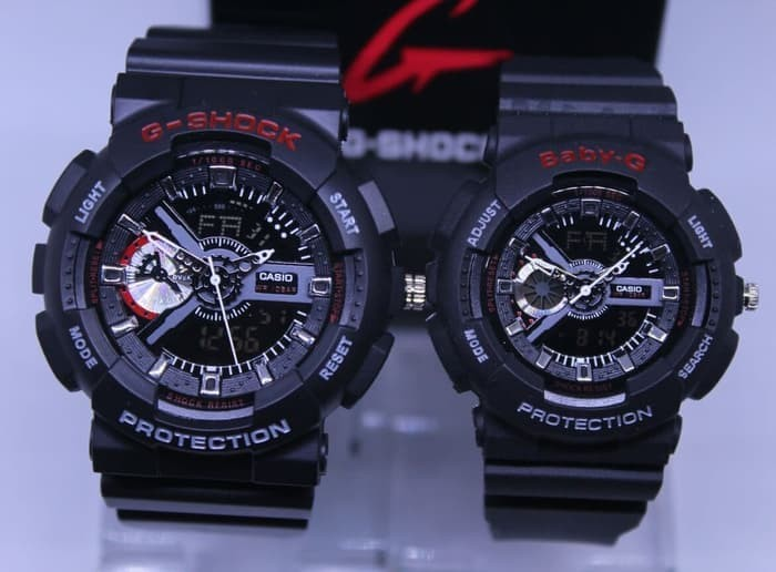 Jual MURAH !! JAM TANGAN COUPLE CASIO G-SHOCK GA-110 BLACK LIST RED ... eec0ed1dc9