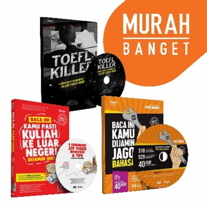 harga Top ready buku dvd kunci inggris toefl killer jkln bonus ebook jamu l Tokopedia.com