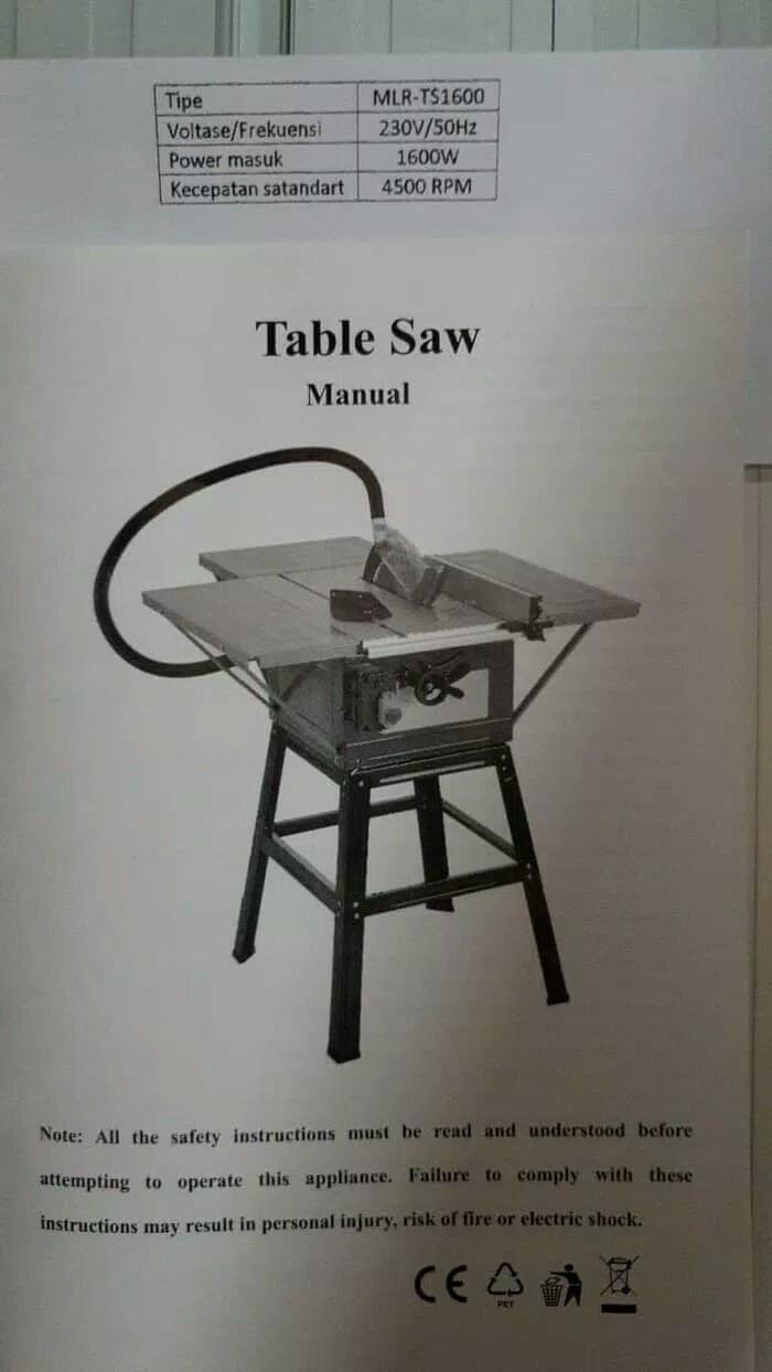 harga Mollar table saw 10 inch potong kayu meja circular saw stanley wipro Tokopedia.com