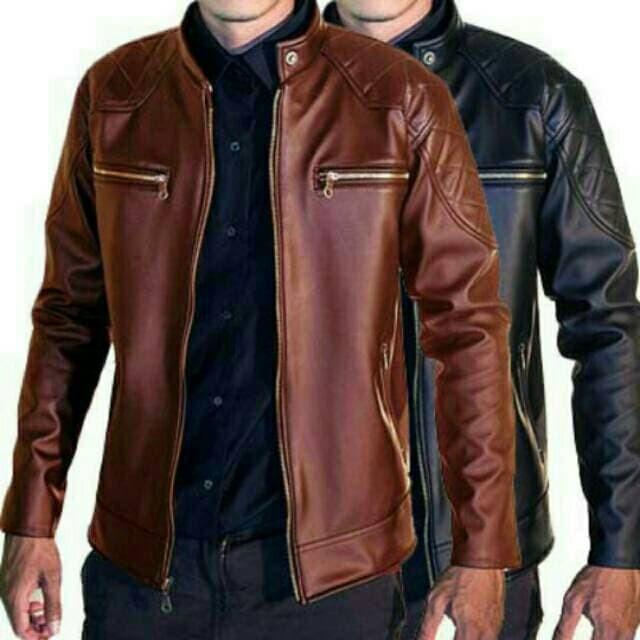 Premium Jaket Kulit Pria Elegant Brownie Arl 033 Silverstone Rfla Arie e041cee388