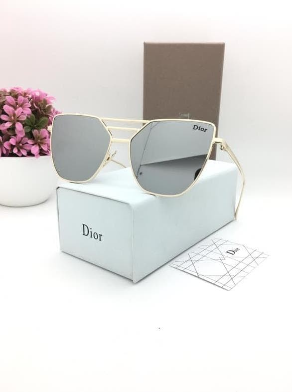 Jual Kacamata Wanita Dior 4208 Sunglasses Silver lis Gold - abey ... 708663a099