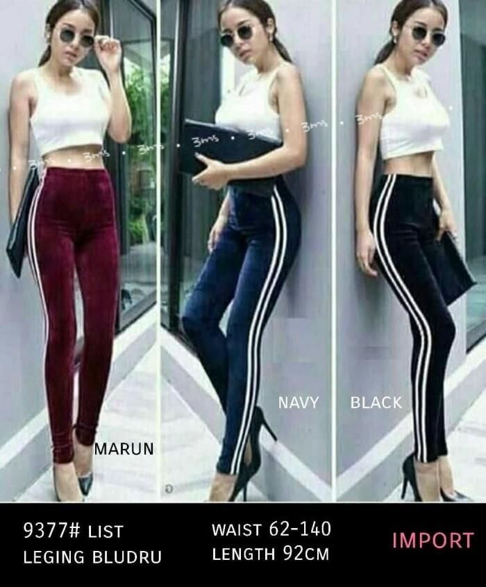 Jual Celana Legging Bludru List Import Kota Bandung Hijabkufashion Tokopedia