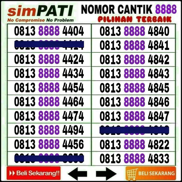 Kartu Perdana Nomor Cantik Simpati No Telkomsel Indosat IM3 XL AS Loop