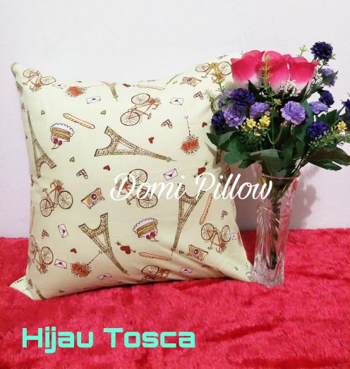 Sarung Bantal Kursi 40x40cm motif Paris/cushion cover/sarban sofa