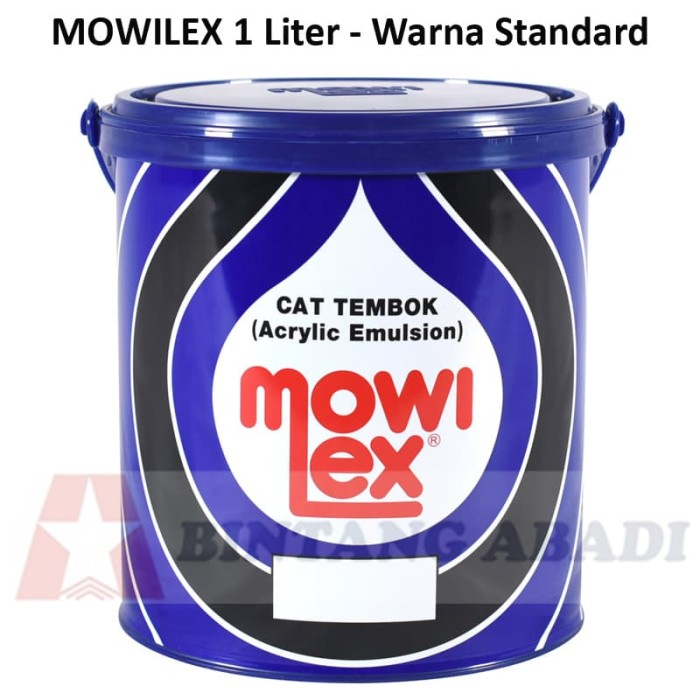 harga Mowilex cat tembok interior 1 liter warna standard / emulsion paint Tokopedia.com