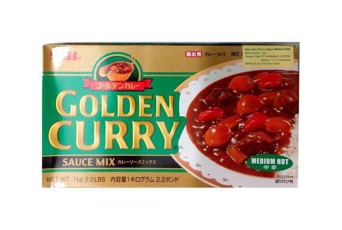 S&b golden curry medium hot sauce mix 1kg bumbu saus kari jepang