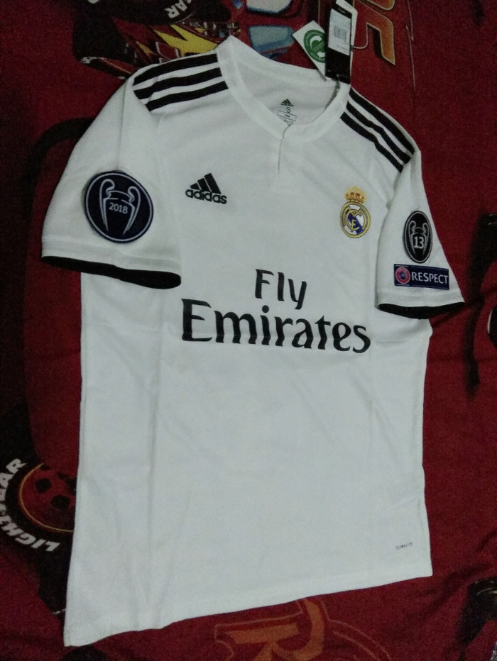 473dee874 Jual Jersey Real Madrid Home 2018-2019 Full Patch UCL - DKI Jakarta ...