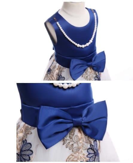 Jual Baju Pesta Anak Cewek Import Cute Navy Blue Wdrs0621 Blanja Com