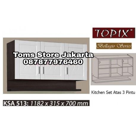 Jual Kitchen Set 3 Pintu Topix Lemari Gantung Rak Toms Store