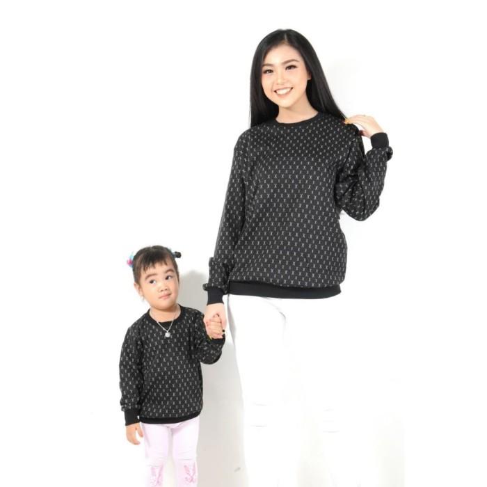 harga Dnb - baju atasan sweater wanita / couple mom & kids / hitam Tokopedia.com
