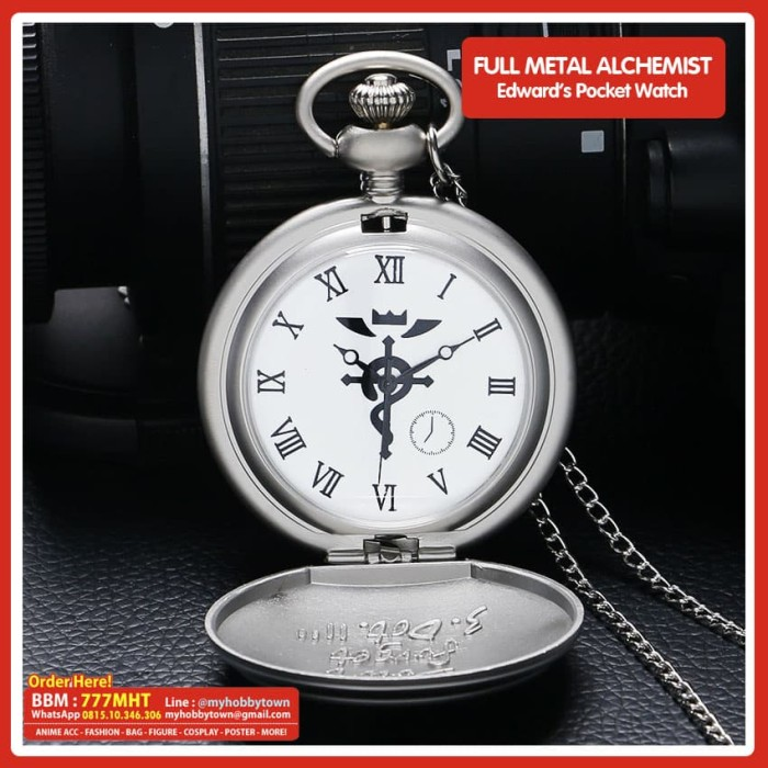 harga Jam saku / pocket watch full metal alchemist : edward elric Tokopedia.com