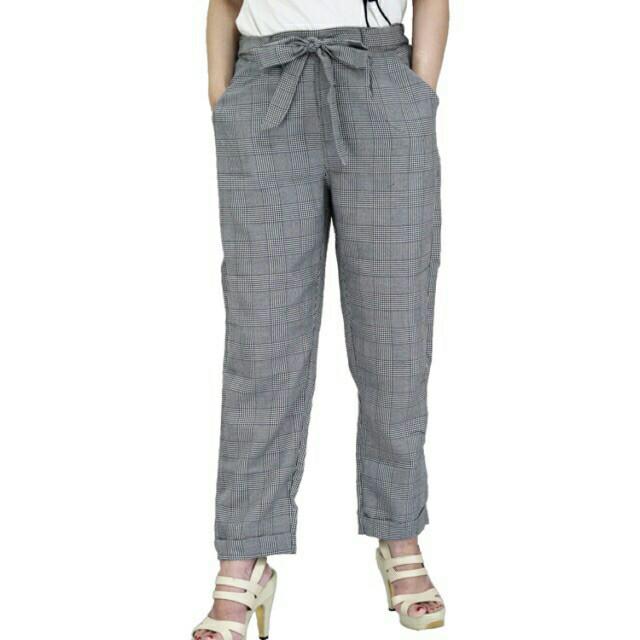 Jual Celana Chino Pants Wanita Celana Chino Tartan R2mstore