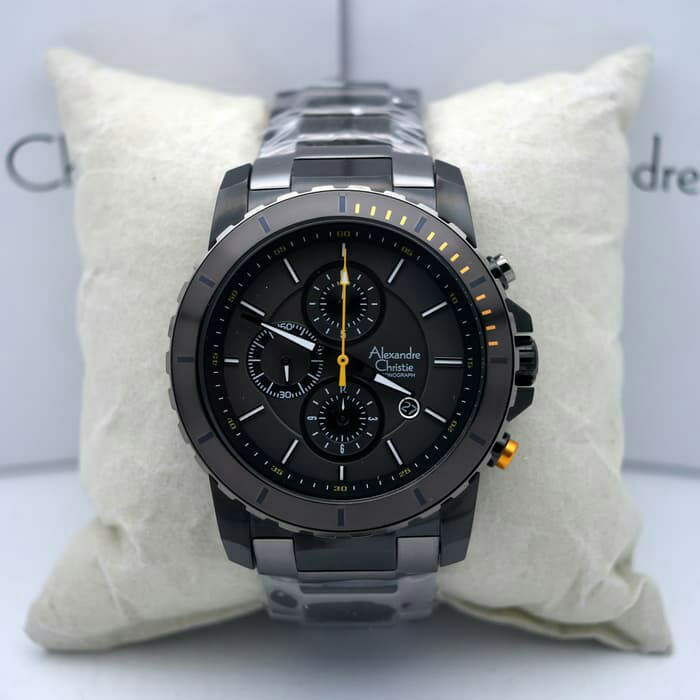harga Alexandre christie ac 6141 black grey. garansi resmi 1tahun Tokopedia.com